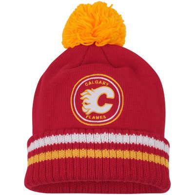 Mitchell & Ness Calgary Flames Red Vintage Big Man Hi-Five Cuffed Knit Hat