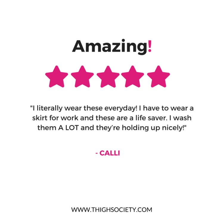 Calli, we think YOU'RE amazing!   Thank you for the 5 🌟 review 💕  Check out our anti-chafing shorts here:  https://www.thighsociety.com/collections/anti-chafing-slip-shorts?utm_content=buffer3d5a8&utm_medium=social&utm_source=pinterest.com&utm_campaign=buffer  #thighsociety #antichafing #stopthechafe #bopo