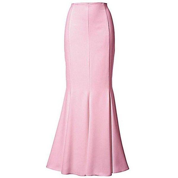 Heine Godet Maxi Skirt   Kaleidoscope ($11,220) ❤ liked on Polyvore featuring skirts, long skirts, long pink skirt, pink skirt, ankle length skirt and floor length skirt