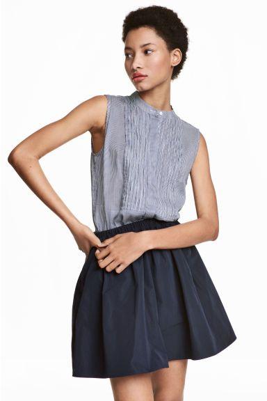 Блузка без рукавов - Синий/Белая полоска - Женщины | H&M RU 1