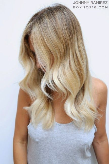 pretty waves, blonde ombré