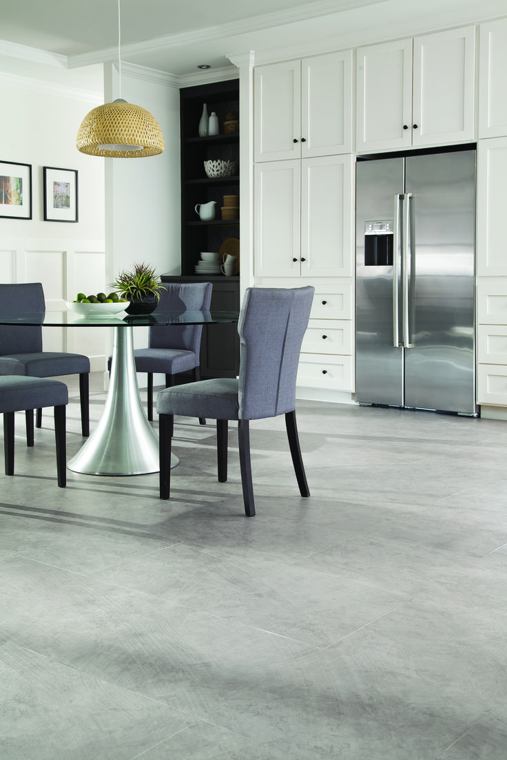 The Birkdale X Large Brushed Concrete Ash Lvt Contributes