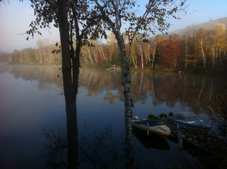 Early morning on the lake in muskoka..! Photo by Kyal Stephen smith. Dorset Ontario Canada.! Taken with IPhone 4.