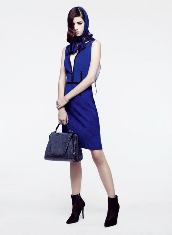 Vestido Jitrois azul brillante