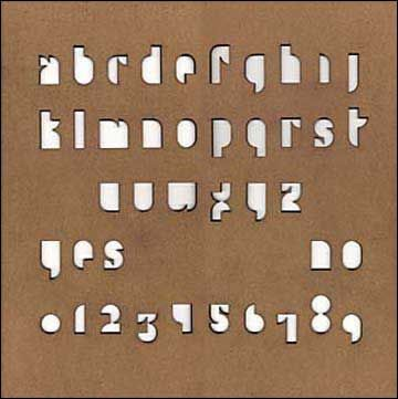 Paul Elliman. Ouija board. 2001