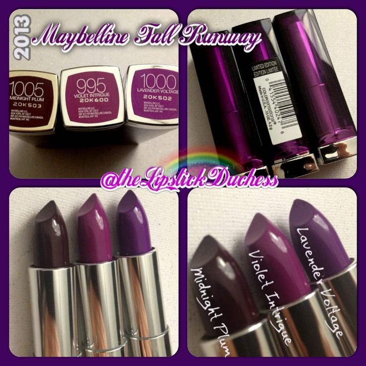 Maybelline Fall lipsticks - Oh, I could get down with this.