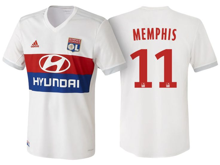 Olympique Lyonnais memphis depay 17-18 Home jersey