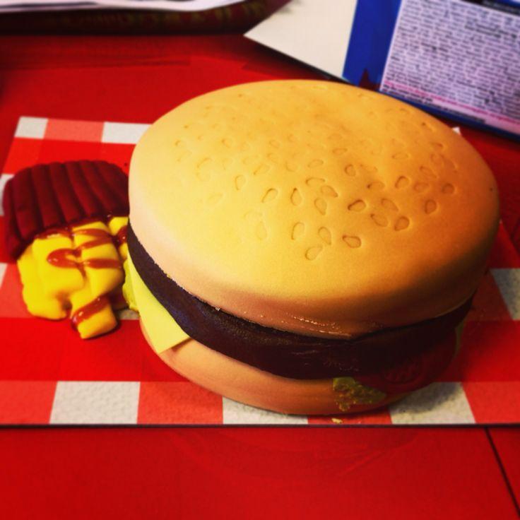 We LOVE this burger cake!!