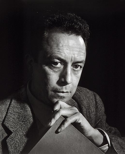 """Albert Camus 1954 """"The purpose of a writer is to keep civilization from destroying itself."""""""
