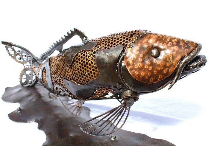 58 best images about my sculptures on pinterest belt for Koi fish metal art