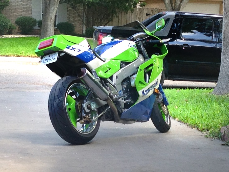 Kawasaki Zxr Green Loud One