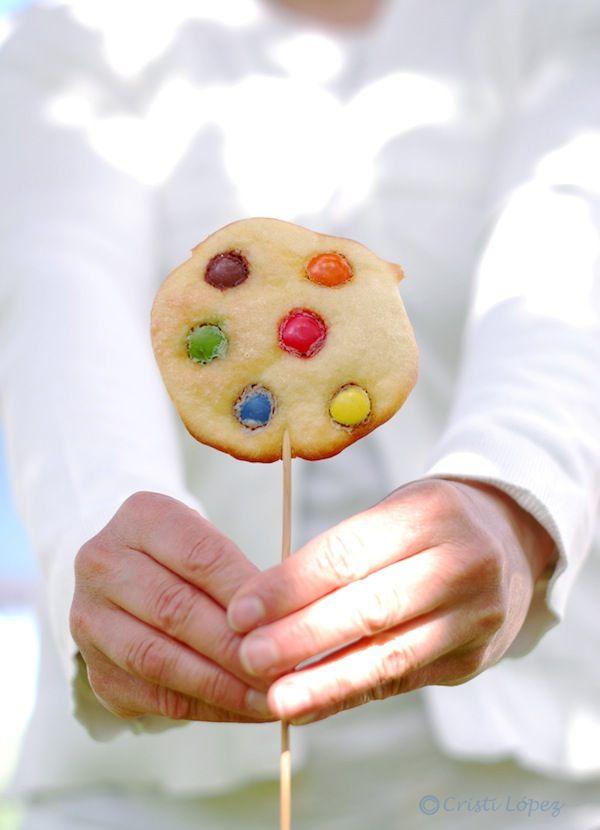 piruleta pan con chocolate - recetas para niños