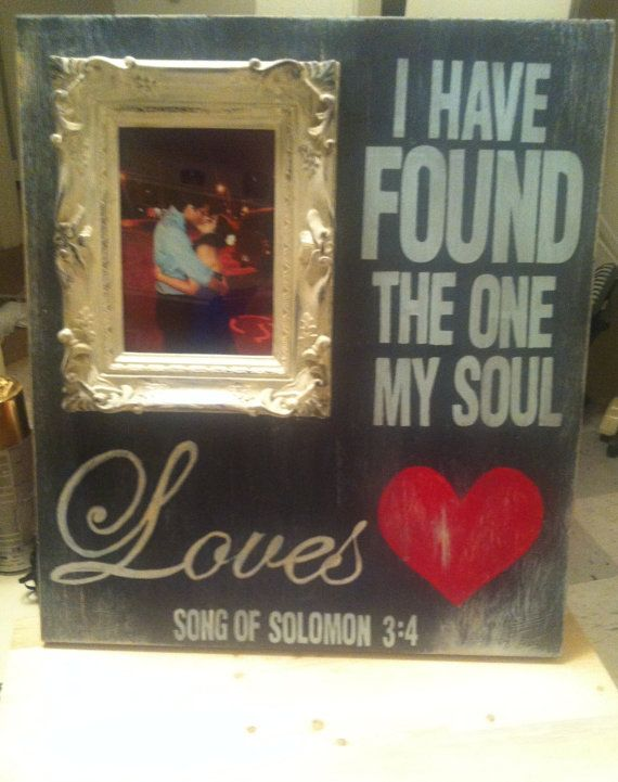 Personalized love picture frame art with quote song of