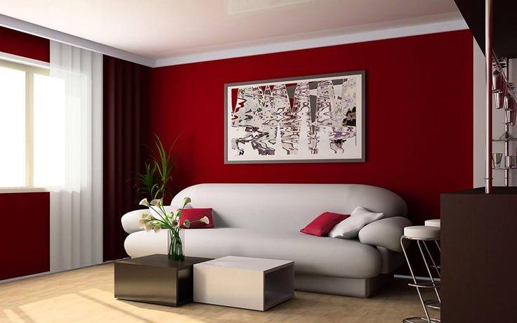discovery health -Rojo:  La pared en rojo cálido del living combinado con sillones claros y agregar capas de intensidad a los tonos madera naturales, conseguirás darle calidez al living.