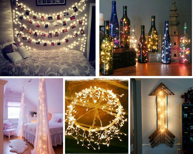String Light Ideas and Bedroom Projects for Women