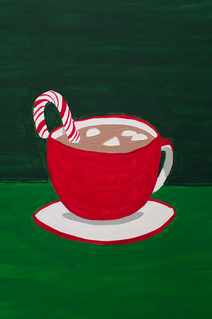 Cozy Up With A Cup Of Cocoa This Hot Chocolate Painting Was Created Acrylic Paint On Readi Board Foamboard