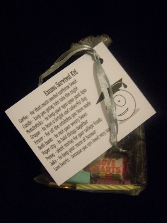 Exam Survival Kit | Care Packages & Gift Baskets Ideas ...