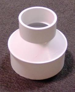 """The Drainage Products Store - Spigot Adapter  2"""" Schedule 40 Hub to 4"""" S"""