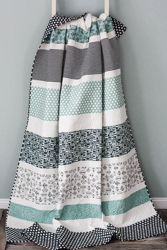 The Boathouse Twin Size Quilt Extra Long by CottonBerryQuilts