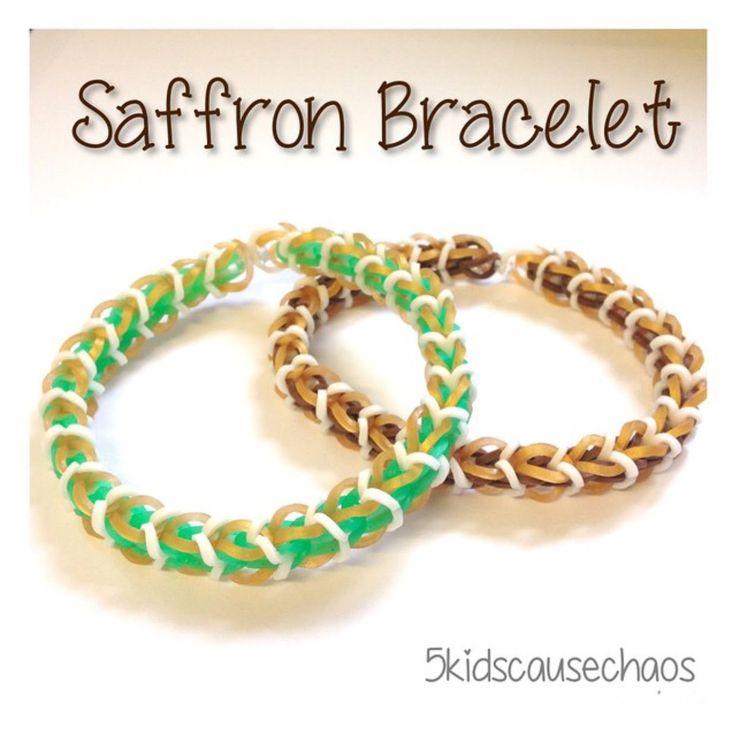 Saffron Rainbow Loom Bracelet Tutorial by AmandaandMonica Rloomy