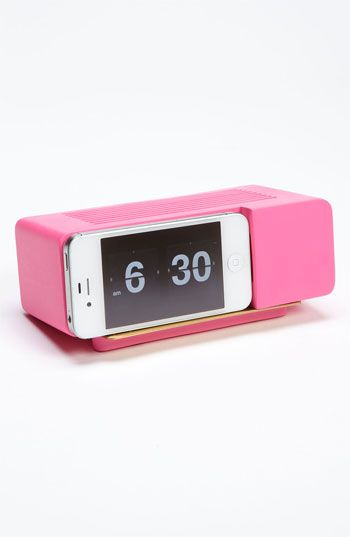 pgajewsky's save of Retro iPhone Alarm Dock   Nordstrom on Wanelo I would love this my alarm clock is so old