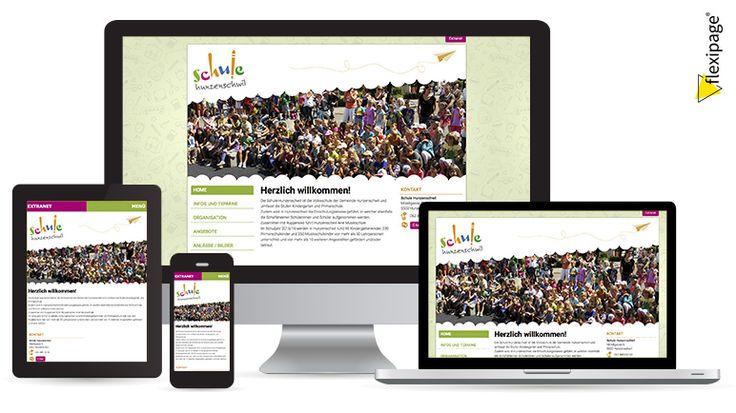 Schule Hunzenschwil, Flexipage, Responsive Webdesign, Internetauftritt
