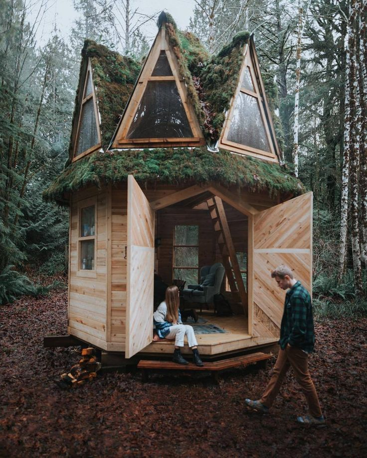 Her Tea Leaves House, Tiny cabin, Forest house