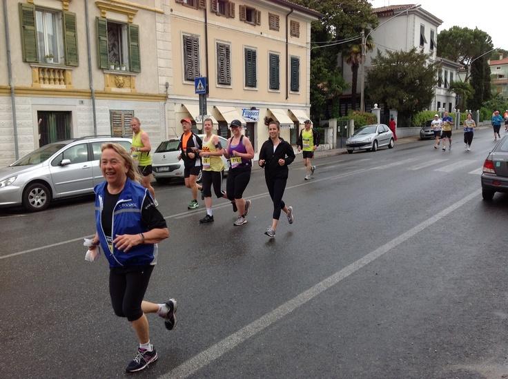 ancora 42 km. di corsa per l'arrivo a Trieste!
