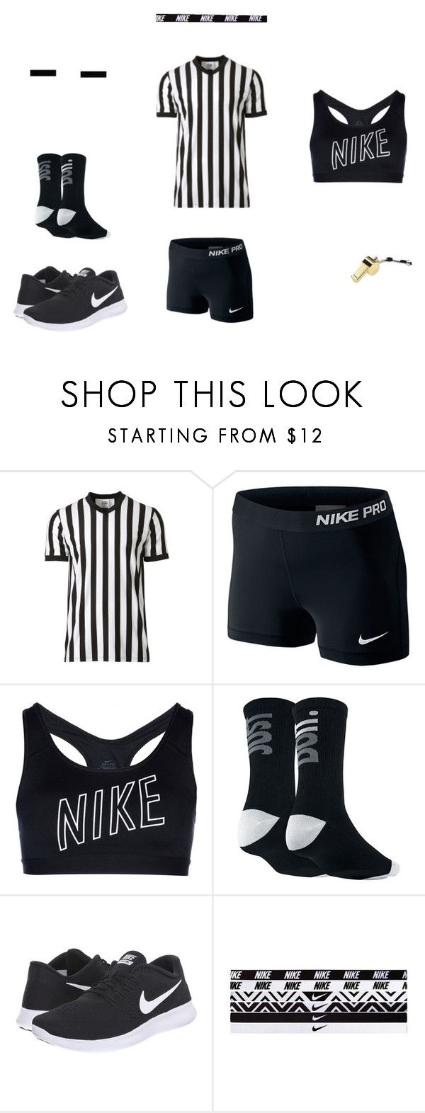 """Referee Halloween costume"" by girlfromanotherplanet ❤ liked on Polyvore featuring NIKE and Calvin Klein"