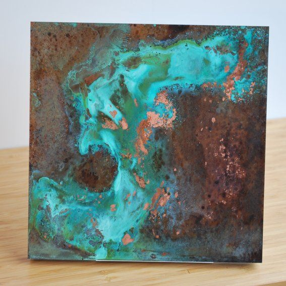 Custom Made Copper Patina Wall Art