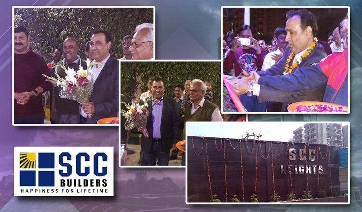 """""""Inauguration of Main Entrance at Site SCC HEIGHTS by Vipul Giri, CEO, SCC Group."""""""