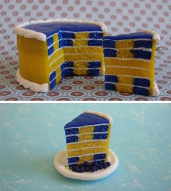 blueberry- lemon cake (The amount of food color is horrifying, but what a pretty cake!)