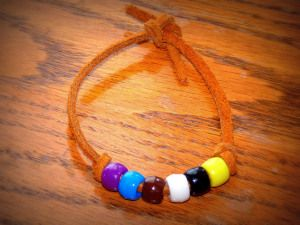 Beaded Bracelet... colours to represent parts of the Lord's Prayer.  Some other suggestions for teaching and helping kids to memorise it.