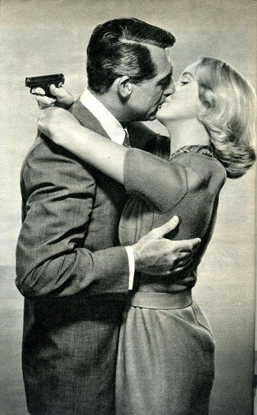 "Alfred Hitchcock's ""North by Northwest"" (1959) Cary Grant and Eva Marie Saint"