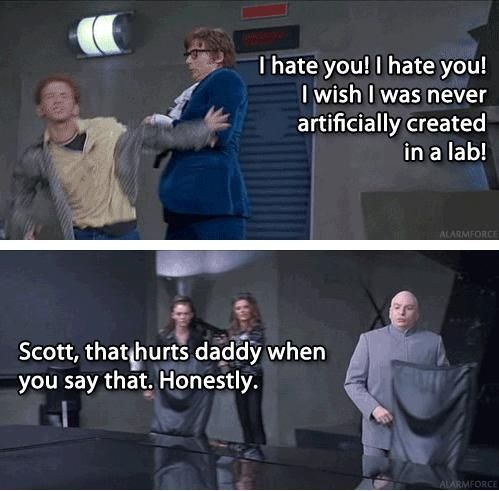 Austin Powers - Dr Evil and Scott