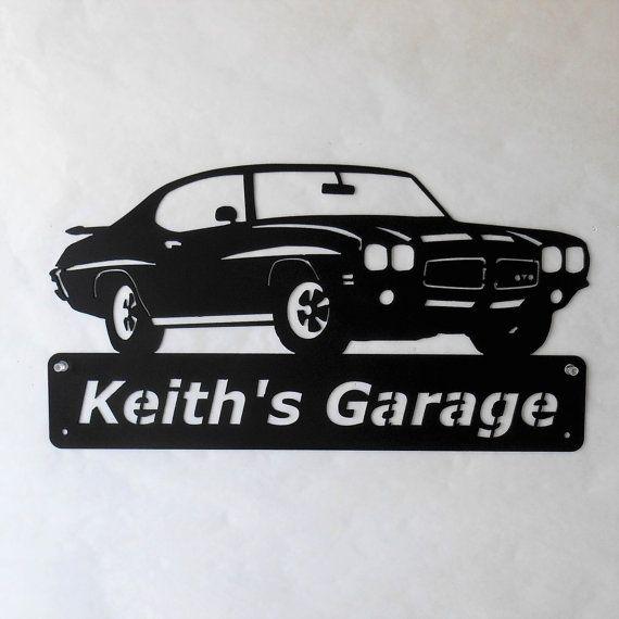 1971 Pontiac GTO chèvre personnalisé homme des cavernes signe