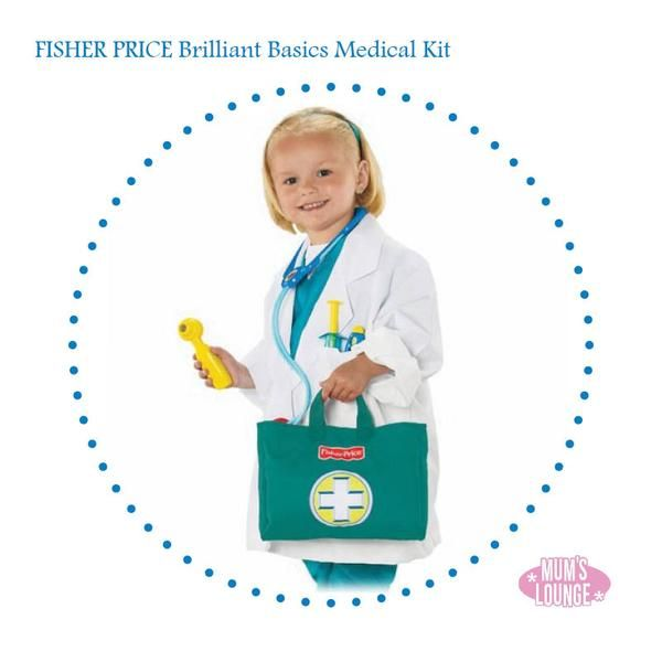 Fisher Price - Brilliant Basics Medical Kit  Is there a Dr. in the house!!?? This cute Fisher Price Dr's outfit will fuel your little one's imagination and maybe even a future career. Even better at 15% off now:  Find it now at Mamadoo #mamadoo #mamadoofinds #toys #fisherprice #pretendplay