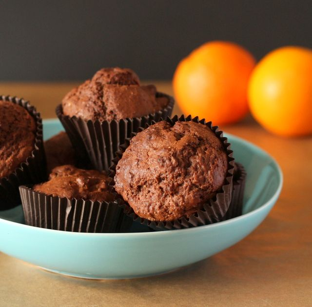 Sumptuous chocolate orange muffins that can easily be chocolate orange cupcakes too. Easy chocolate muffins.