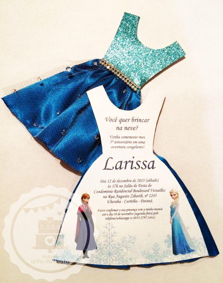 Convite Frozen Vestido
