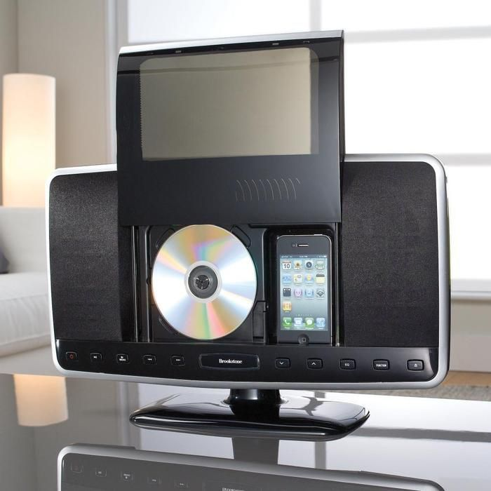 Docks and plays your iPod and iPhone device, features a CD player and FM radio.