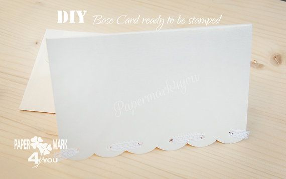 DIY Wedding Invitation_Base Card Ready to Stamp_ by PaperMark4You