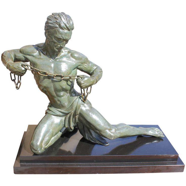 79 best images about art deco statues men on pinterest sculpture auction and sculpture art - Statue deco moderne ...