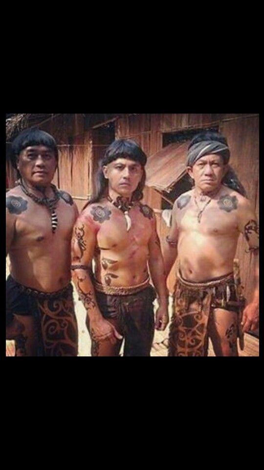 Dayak Kalimantan warriors
