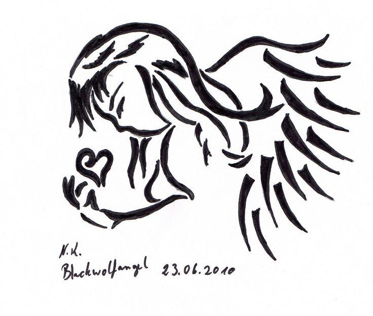 37 best angel tribal tattoos images on pinterest tribal