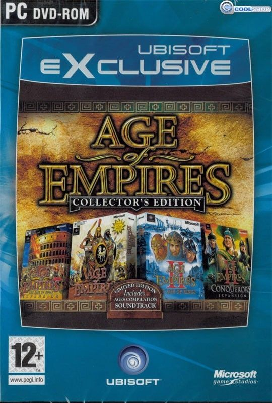 MICROSOFT AGE OF EMPIRES 1+2 COLLECTOR EDITION PC GAME SEALED NEW VIDEO GAME