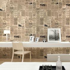 Como transformar jornal velho em papel de parede