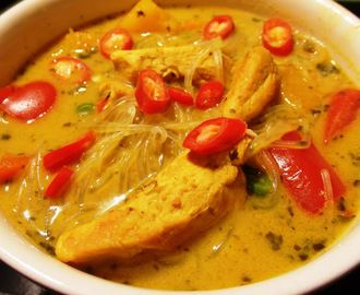 Tajska zupa z kurczakiem i dynią