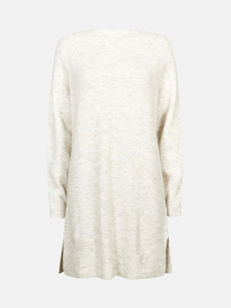 CUBUS - Jenny strikket genserkjole i offwhite 399,-