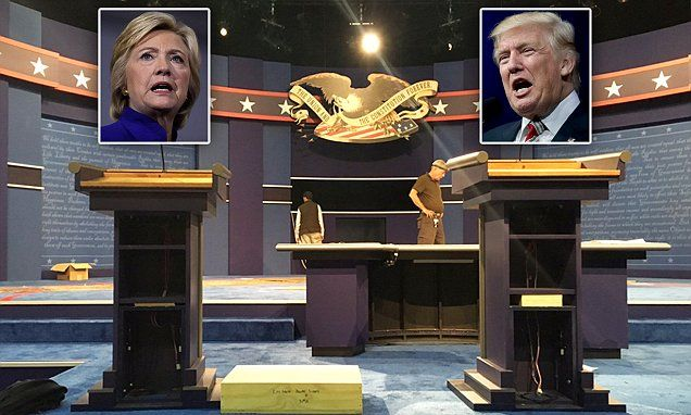 Clinton gets customized podium to offset height difference with Trump