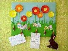 Memoboard zu Ostern mit Kindern basteln